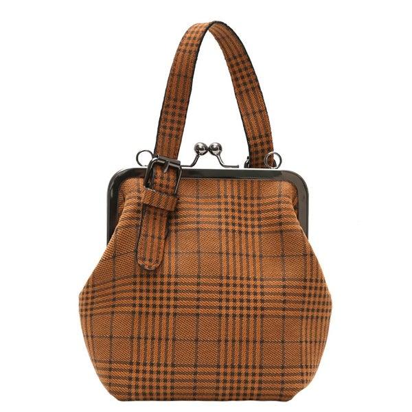 92e9425194e QZUnique Women's Adjustable Strap Shoulder Handbag Crossbody Bag Plaid  Clutch Purse