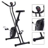 Folding X-Shape Exercise Bike Cardio Workout Cycling Magnetic Fitness Stationary