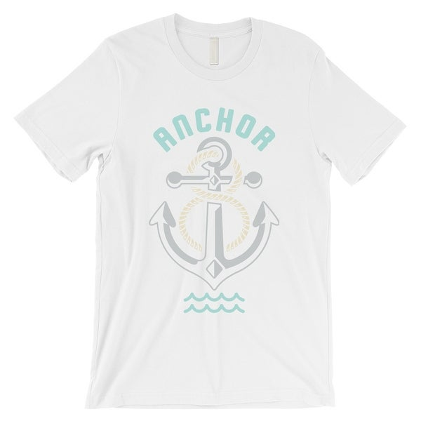 Anchor Hook Mens White Retro Style T Shirt Unique Gifts For Him