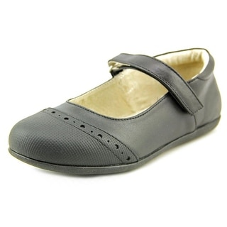 See Kai Run Meredith Youth Round Toe Leather Black Mary Janes