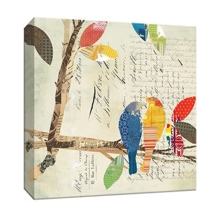 "PTM Images 9-146775  PTM Canvas Collection 12"" x 12"" - ""Love Bird I"" Giclee Birds Art Print on Canvas"