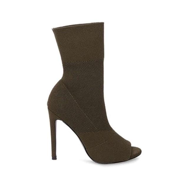 1a9058c4850 Shop Steve Madden Womens Kristi Fabric Peep Toe Mid-Calf Fashion ...