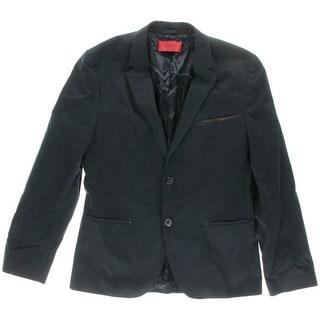 Hugo Hugo Boss Mens Abodo Faux Trim Notch Collar Two-Button Suit Jacket - 38R