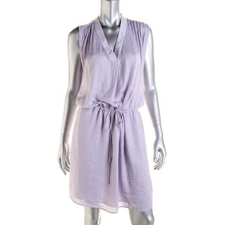 Vince Womens Casual Dress Chiffon Knee-Length - l