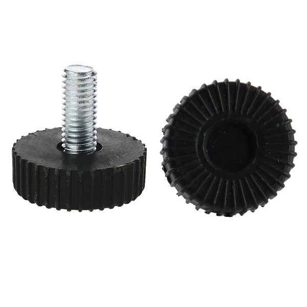 M8 x 18 x 30mm Screw on Furniture Glide Leveling Feet Adjustable Height Leveler Floor Protector 2pcs