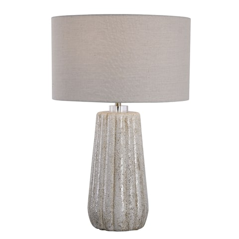 Uttermost Pikes Stone-Ivory Table Lamp