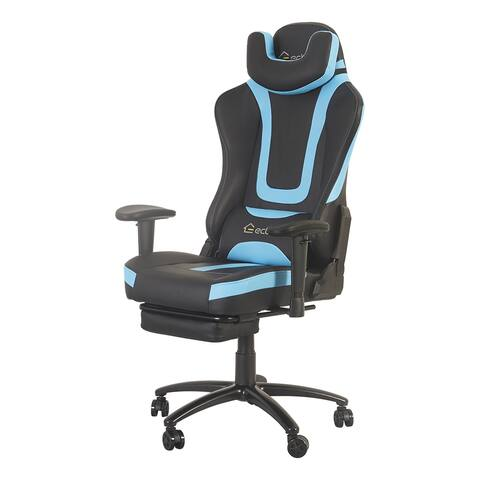 Ergonomic Massage Office Chair with Head Pillow and Waist Support