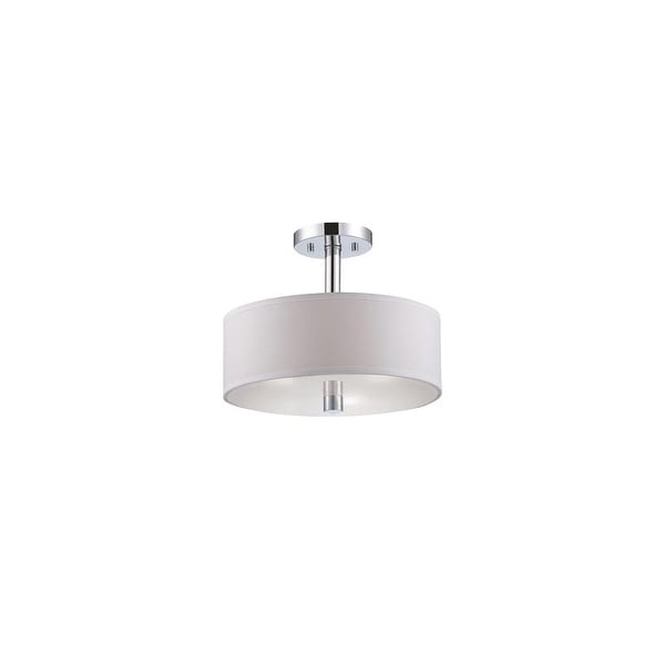 Designers Fountain 84511 Cordova 3-Light Semi-Flush Ceiling Fixture - Chrome - n/a