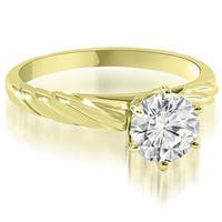 0.75 cttw. 14K Yellow Gold Twist Style 6-Prong Solitaire Diamond Engagement Ring