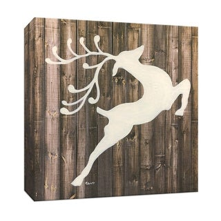 """PTM Images 9-147436  PTM Canvas Collection 12"""" x 12"""" - """"Reindeer"""" Giclee Christmas Art Print on Canvas"""