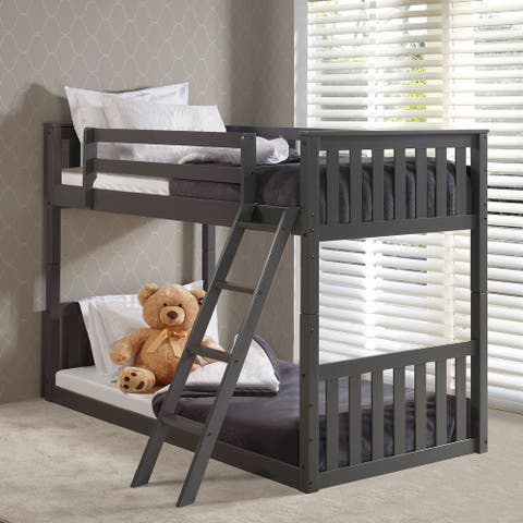 Wood Twin-over-twin Bunk Bed