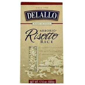 Delallo Arborio Risotto Rice - Case of 12 - 17.6 oz.