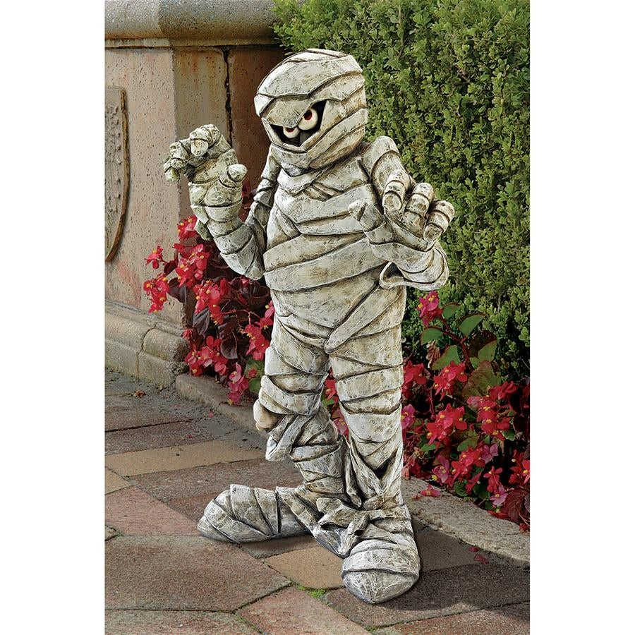 Design Toscano Wrapped Too Tight Garden Mummy Statue