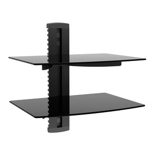 Monoprice2 Shelf Wall Mount Bracket for TV Components