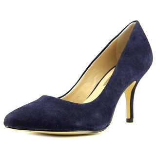 INC International Concepts Zitah Women Pointed Toe Suede Blue Heels
