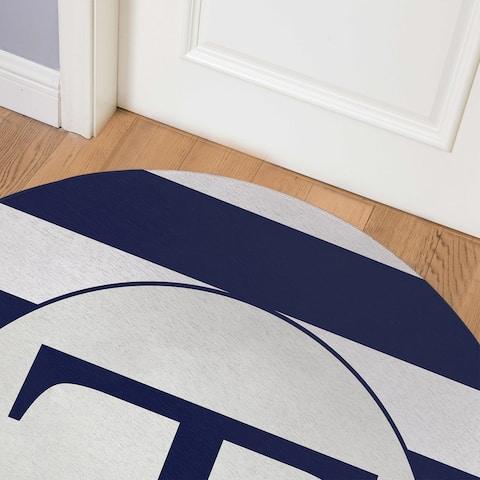 MONO NAVY STRIPED T Indoor Floor Mat By Kavka Designs