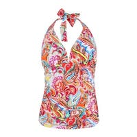 Lauren Ralph Lauren Women's Sunrise Printed Halter Tankini Top - Multi