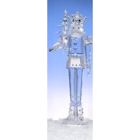 """17.5"""" Icy Crystal Decorative King with Scepter Christmas Nutcracker"""