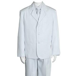 Sweet Kids Baby Boys White Jacket Shirt Zippered Tie Vest Pants Suit 6-24M