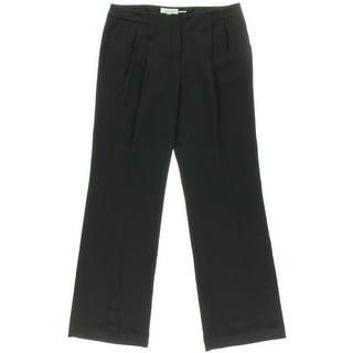 Calvin Klein Womens Crepe Pleated Dress Pants