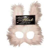 Bunny Half Mask Costume Accessory - White