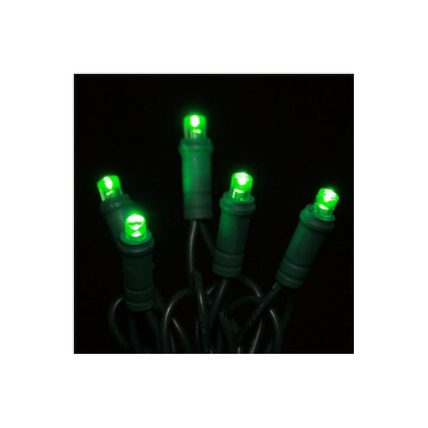 Christmas at Winterland S-50MMGR-6G 25 Foot String of Green M5 LED Lights with 6 Inch Spacing and Green Wire