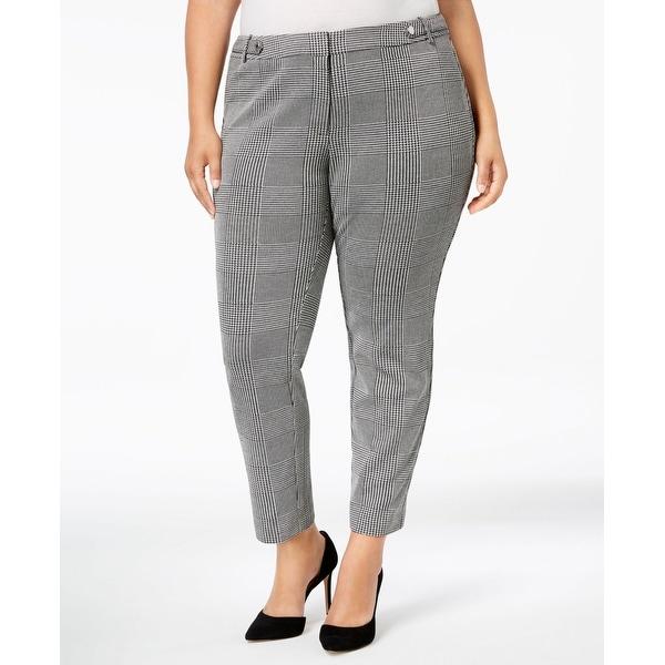Calvin Klein Gray Womens Size 22W Plus Ankle Dress Pants Stretch