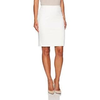 Le Suit NEW White Women's Size 10P Petite Straight Pencil Skirt