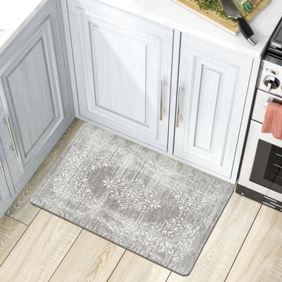Distressed Traditional Vintage Design Anti Fatigue Standing Mat