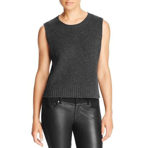 Magaschoni Womens Sweater Vest Cashmere Hi-Low