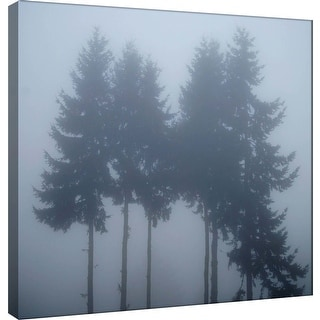 """PTM Images 9-101242  PTM Canvas Collection 12"""" x 12"""" - """"Foggy Morning 3"""" Giclee Forests Art Print on Canvas"""