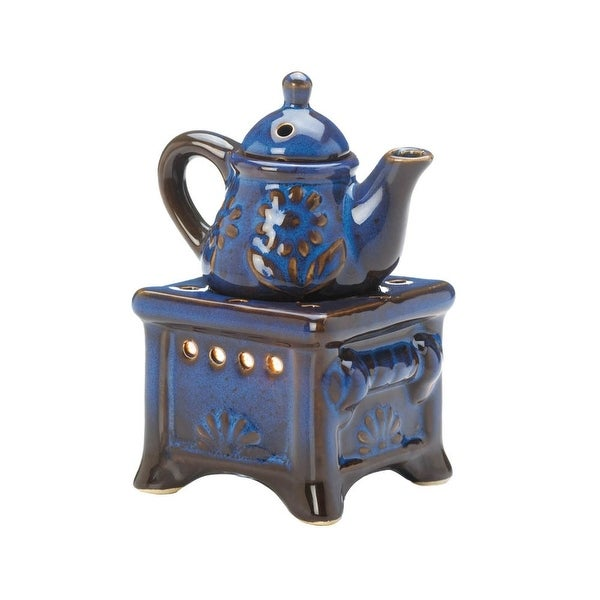 Blue Teapot Stove Oil Warmer. Opens flyout.