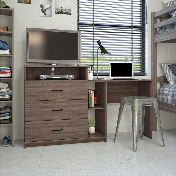 Avenue Greene Lindell Laminated Particleboard 3-in-1 Media Dresser. Opens flyout.