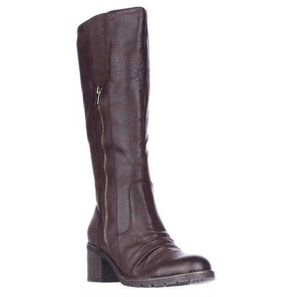 BareTraps Dallia Scrunch Toe Riding Boots, Dark Brown