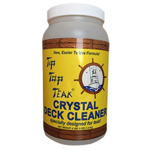 """8"""" White and Yellow Crystal Deck Cleaner Half Gallon 3 Oz."""