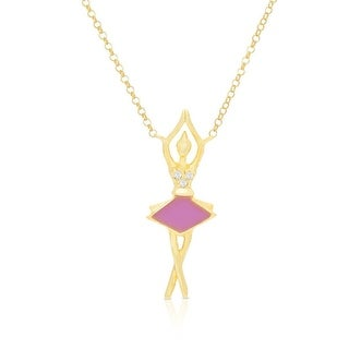Lily Nily Girl's Ballerina Necklace with CZ