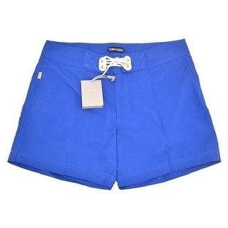 Tom Ford Men's Solid Shorts Blue Swim Trunks - 32