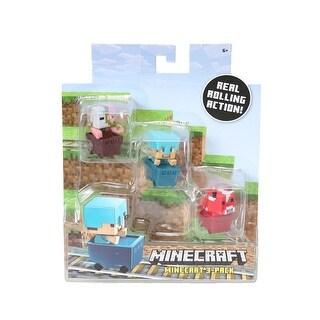Minecraft Ocelot, Zombie, Enderman Figure 3 Pack