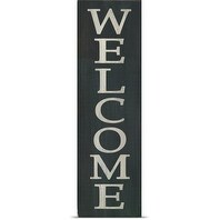 Alli Rogosich Poster Print entitled Black Aged Welcome Sign