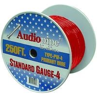 Audiopipe 250' 4 Gauge Black Power Wire