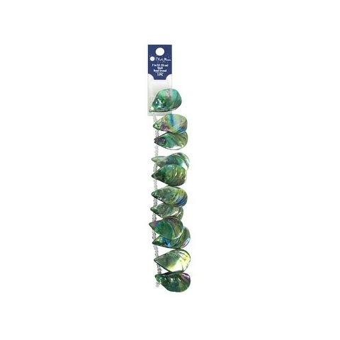 "BMB Bead Strand 7"" Shell #9 Abalone Green"