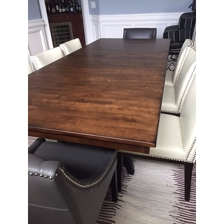 The District Industrial Copper Finish Cast Metal Dining Table - Brown