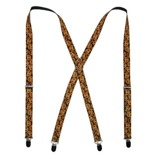 Buckle Down Kids' Elastic Halloween Jack-O-Lantern Holiday Suspenders - Black - One Size