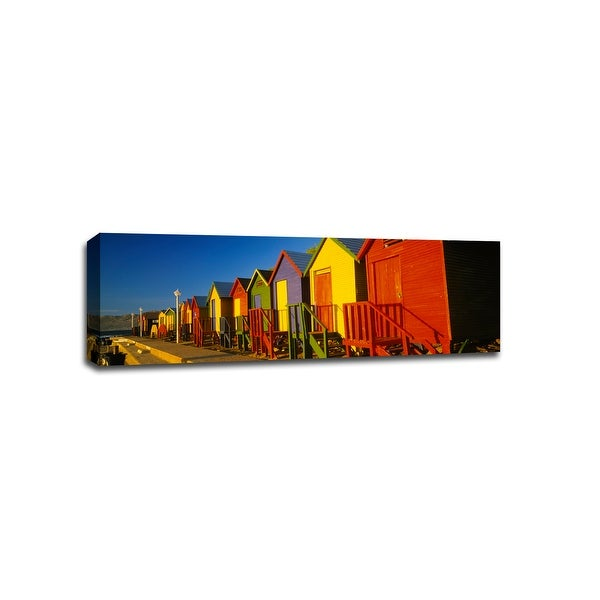 Beach Huts St James - Beaches - 48x16 Gallery Wrapped Canvas Wall Art