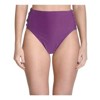 Ibiza Womens Plus Ruched Side Tab Swim Bottom Separates