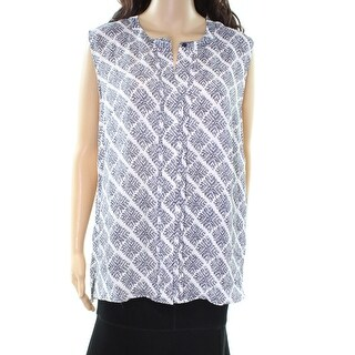 Laundry By Shelli Segal NEW White Printed Women's Size 14 Blouse