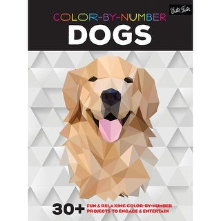 Walter Foster Creative Books-Color By Number - Dogs