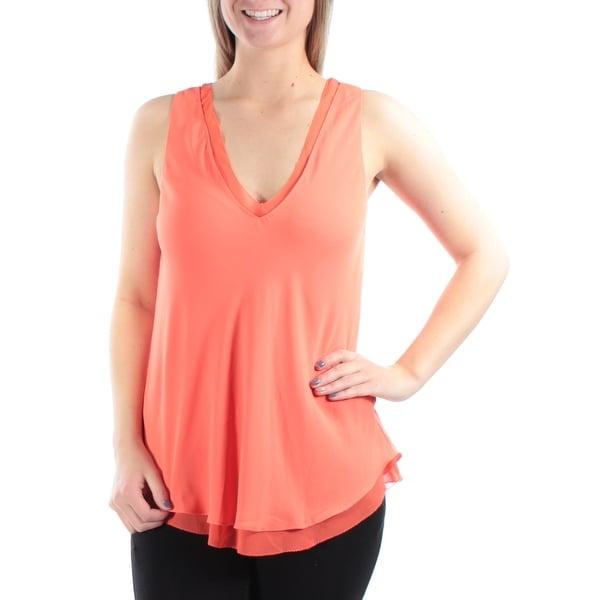95198eddcdb Shop RACHEL ROY Womens Orange Sleeveless V Neck Top Size  XS - On Sale -  Free Shipping On Orders Over  45 - Overstock - 23454666