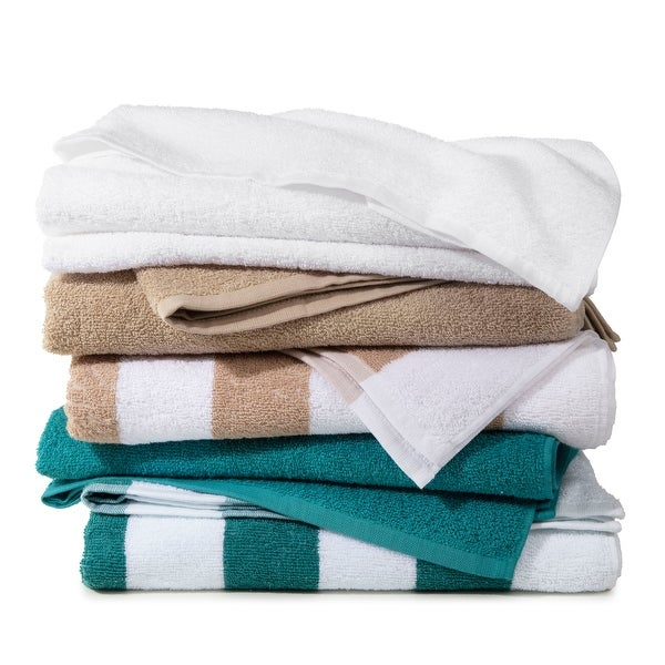 Martex Cabana Cotton 3 Pack Pool Towels - 30x66. Opens flyout.