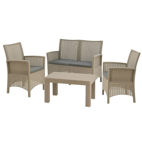 Cardiff Collection 4-Piece All-Weather Conversation Set
